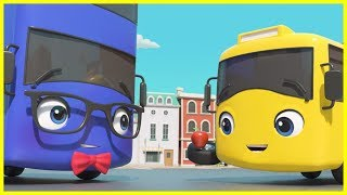 Buster's First Day At School | Go Buster | Baby Cartoons | Videos for Kids |  ABCs and 123s