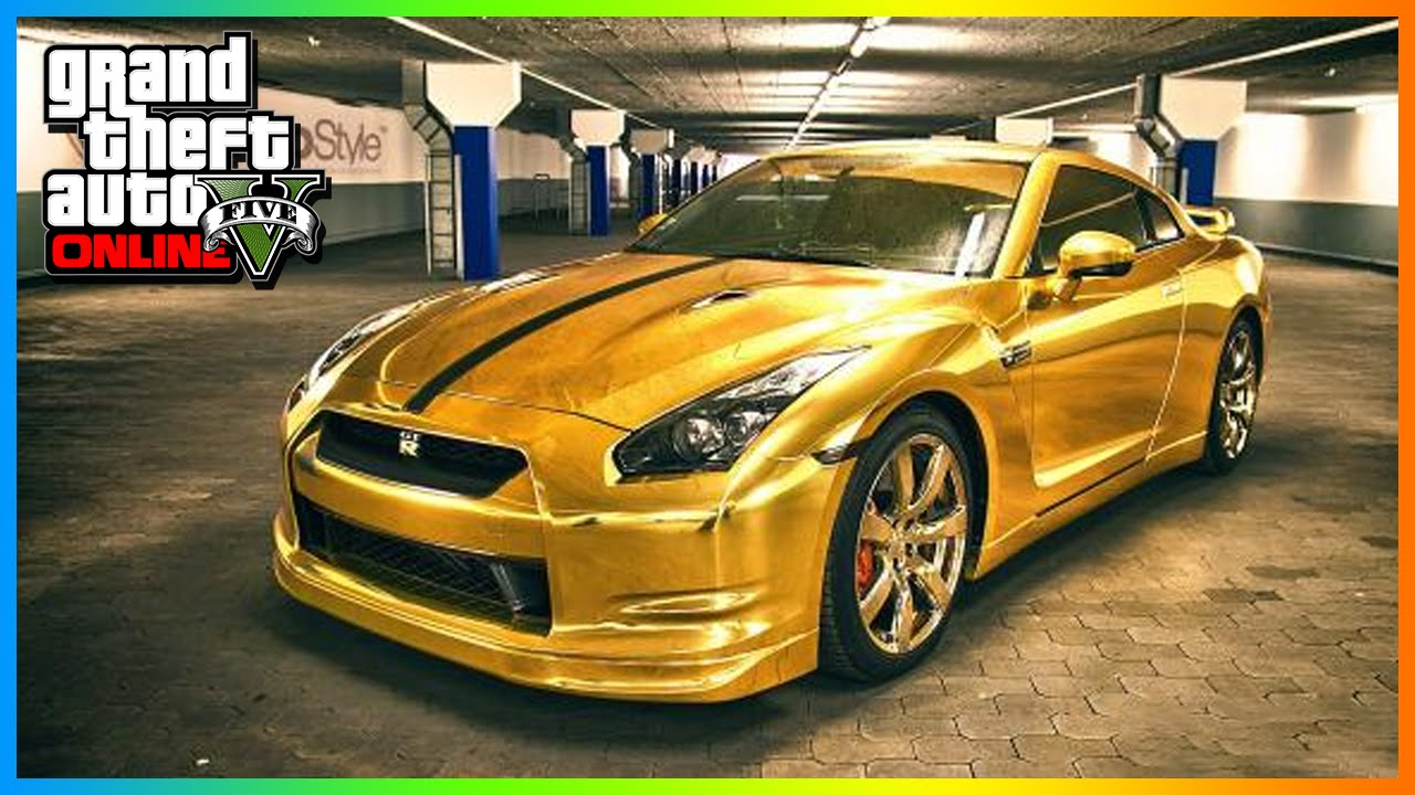 gta 5 modded cars golden chrome rare paint job gta 5