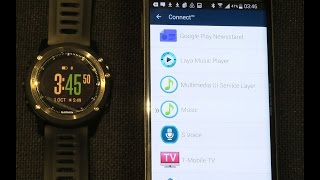 Garmin Fenix 3 Music Control setup and demo on Android phone