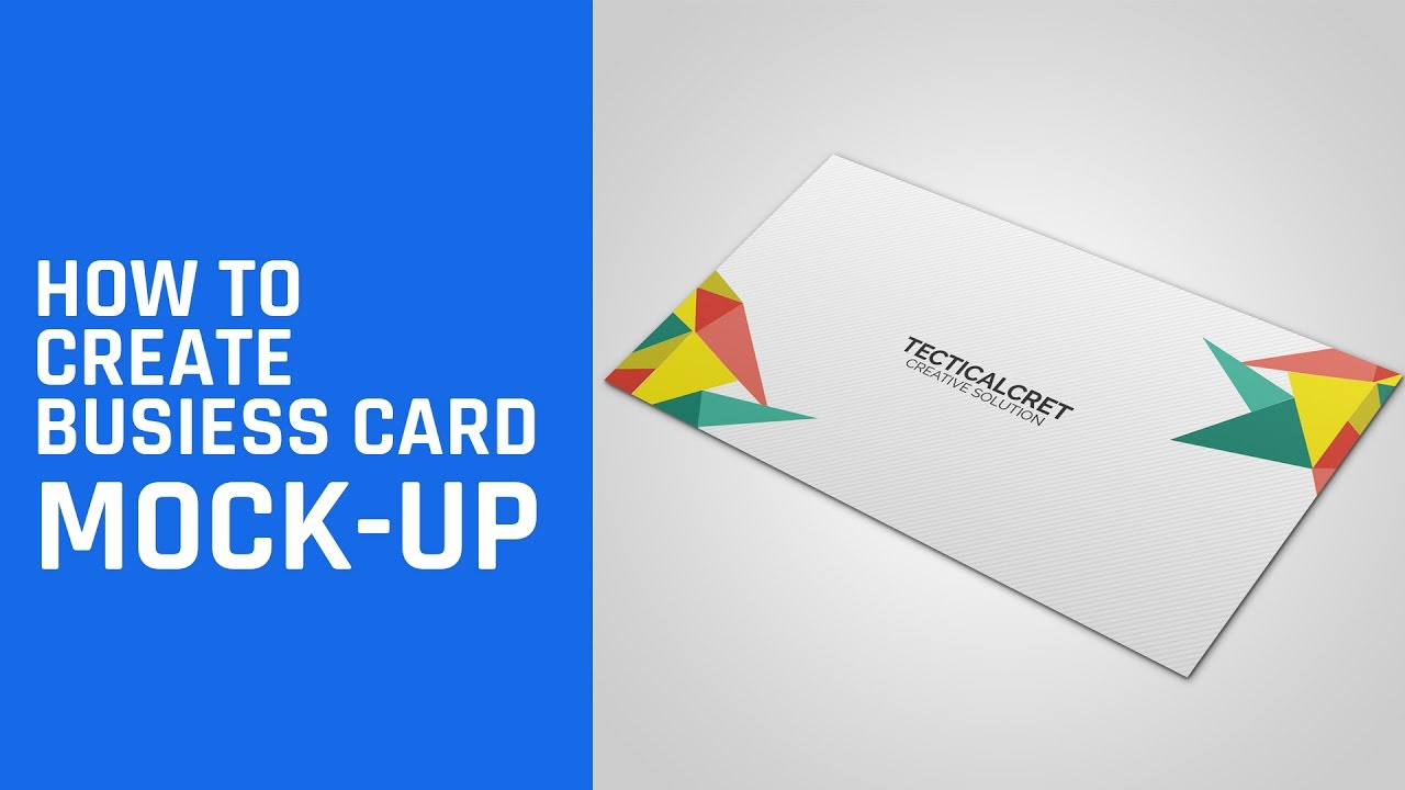 How to Create Business Card Mockup - Photoshop Tutorial - YouTube