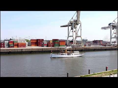 Dampfschiff SCHAARHÖRN Unterwegs Zum Flensburg Dampf Rundum 2019
