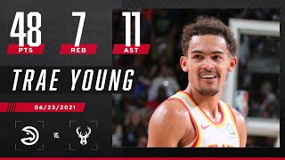 Trae Young GOES OFF for Playoff CAREER-HIGH 48 PTS, 7 REB & 11 AST in W 🥶 | ECF Game 1