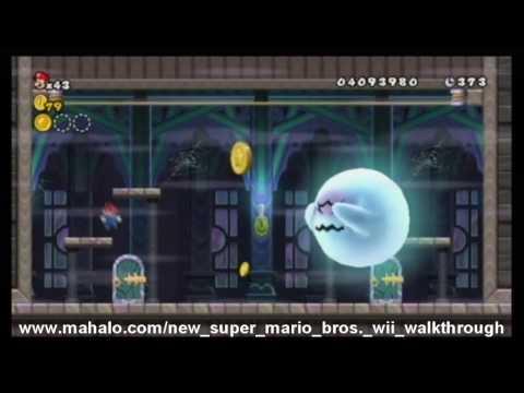 New Super Mario Bros. Wii Walkthrough - World 7 - Ghost House