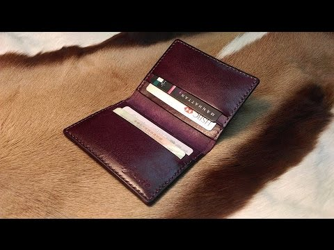 Sole craft leather craft 6 cards wallet youtube for Wholesale leather craft supplies