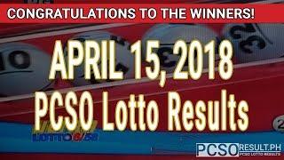 PCSO Lotto Results Today April 15, 2018 (6/58, 6/49, Swertres, STL & EZ2)