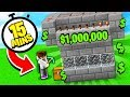 MAKING 1 MILLION DOLLARS MINING FOR 15 MINUTES! (Minecraft Skyblock)