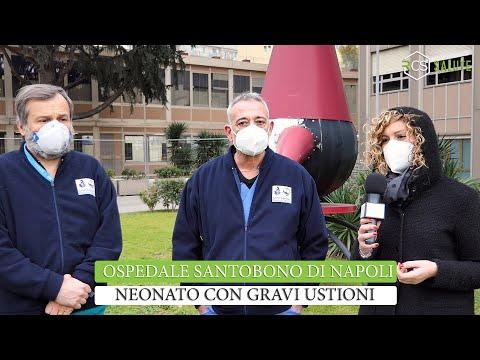 Neonato con gravi ustioni in terapia intensiva al Santobono di Napoli