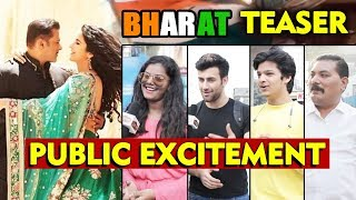 BHARAT Teaser | PUBLIC EXCITEMENT | Salman Khan, Katrina Kaif, Disha Patni, Nora Fatehi