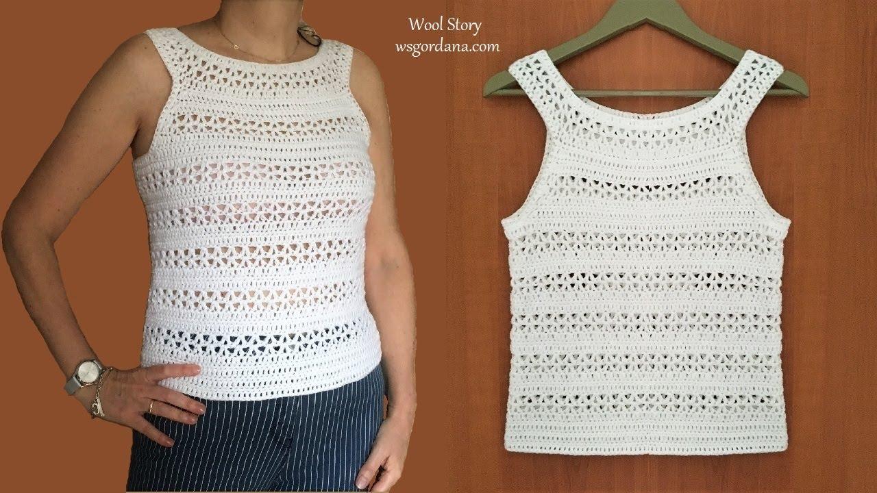 Crochet White Summer Top Tutorial