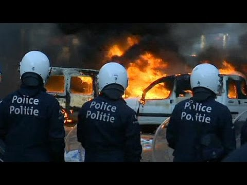 Clashes and arrests after anti austerity protest in (Spain)  3/26/14
