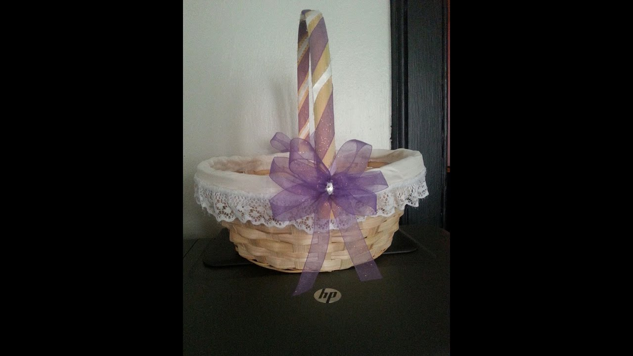 How To Make Flowers Girl Basket : Diy flower girl basket affordable simple