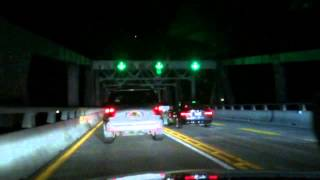 Chesapeake Bay Bridge At Night Traffic