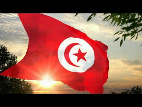 Flag and *anthem of Tunisia (1959-1999)