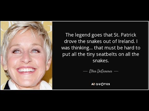 Prophetic Dream of ELLEN DEGENERES 2018 St.Patrick's Day