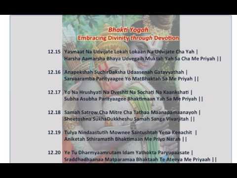 Bhagavad Gita Bhakti Yoga Chapter 12 Part 3 Of 4 Slokas 1215