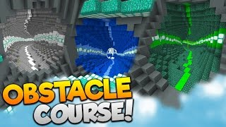 Minecraft FLYING OBSTACLE COURSE! | (17 LEVELS OF ELYTRA FUN!)