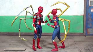 Medicom Mafex Avengers Infinity War Movie Iron Spider-Man Action Figure Review