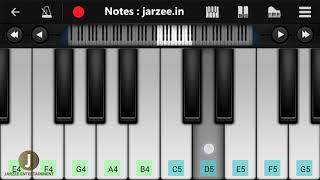 Pal (Jalebi), Arijit Singh, Shreya Ghoshal - Easy Mobile Piano Tutorial