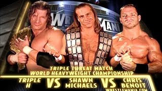 TRIPLE H VS HBK VS CHRIS BENOIT WM 20 EN ESPAÑOL