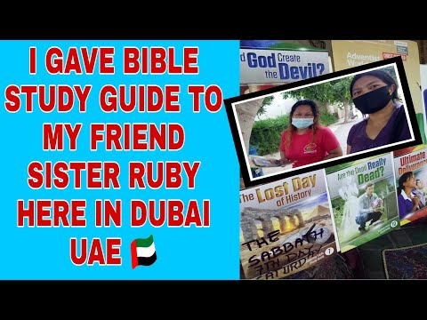 Giving BIBLE STUDY GUIDE to my Friend Ruby.