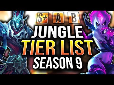 ULTIMATE SEASON 9 JUNGLE TIER LIST + RUNES (9.2) | Tarzaned
