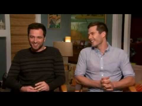 Matthew Rhys  with Luke Macfarlane  ed on ET Canada