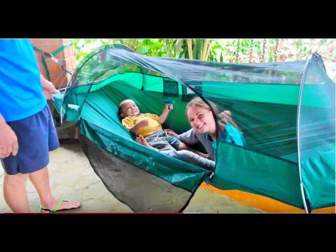 Hammock C&ing--How to Set up Lawson Hammock Tent  sc 1 st  YouTube & Hammock Camping--How to Set up Lawson Hammock Tent - YouTube
