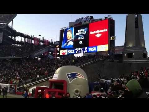 New England Patriots pregame run in & Introduction