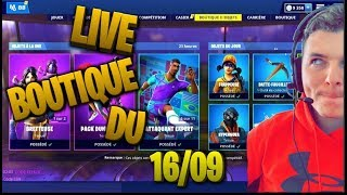 FORTNITE BOUTIQUE OF SEPTEMBER 16, 2019 GAGNE TON SKIN IN THIS BOUTIQUE!