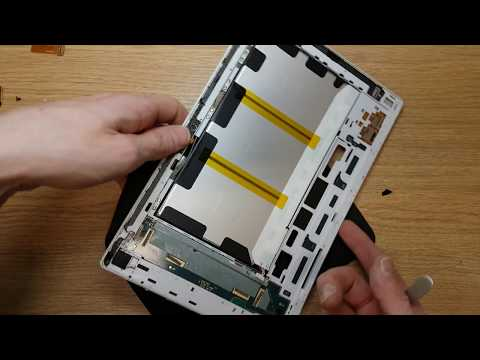 Sony Xperia Tablet Z SGP321 Disassemble the tablet and prepare to replace the screen. Part 2 of 2