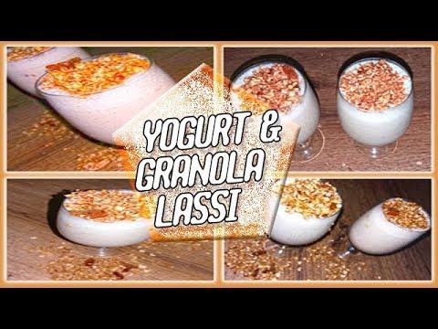 HOW TO MAKE YOGURT AND GRANOLA SMOOTHIE | दही और ग्रेनोला लस्सी | Yogurt And Granola Lassi