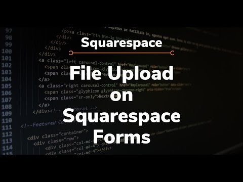 Squarespace - File Upload On Forms