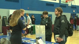 High school students begin to plan their future with career fair
