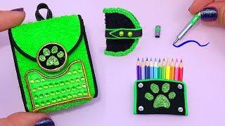 DIY: Miniature Chat Noir School Supplies of MIRACULOUS LADYBUG REALLY WORKS