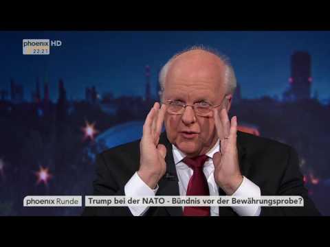 """""""Trump bei der NATO – Bündnis vor der Bewährungsprobe?"""" - phoenix Runde am 25.05.2017"""