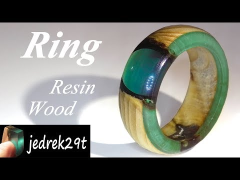 How to make a RING of Resin and Wood/Jak zrobić PIERŚCIONEK z Żywicy i Drewna