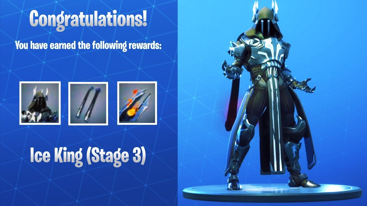 Silver Ice King Stage 3 Unlocked Fortnite Season 7 Tier 100 Skin
