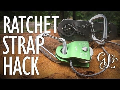 how-to-turn-a-ratchet-strap-into-a-winch!
