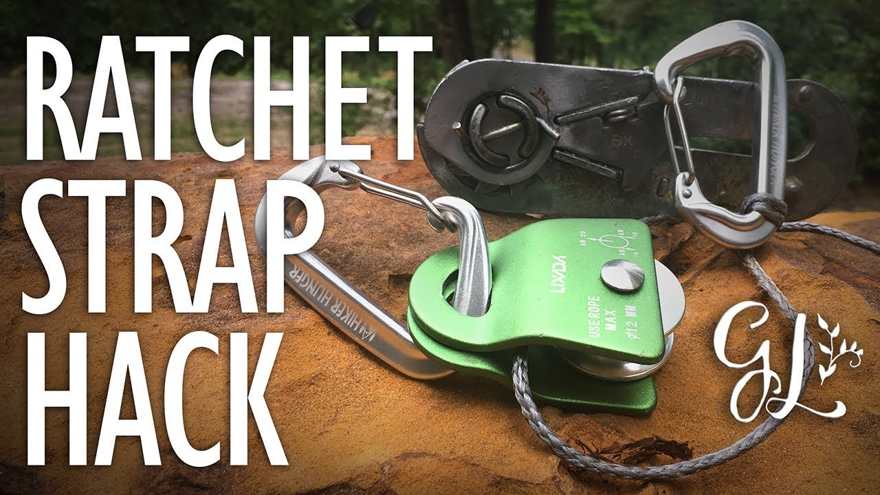 How To Turn A Ratchet Strap Into A Winch Youtube
