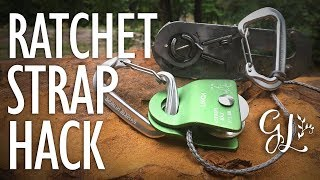 How to Turn a RATCHET STRAP into a WINCH!