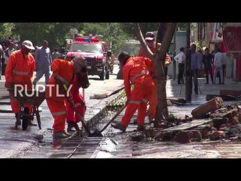 Afghanistan: Clean-up operation underway after deadly suicide bomb attack in Kabul