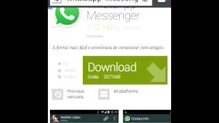 Como baixar whatsapp sem android