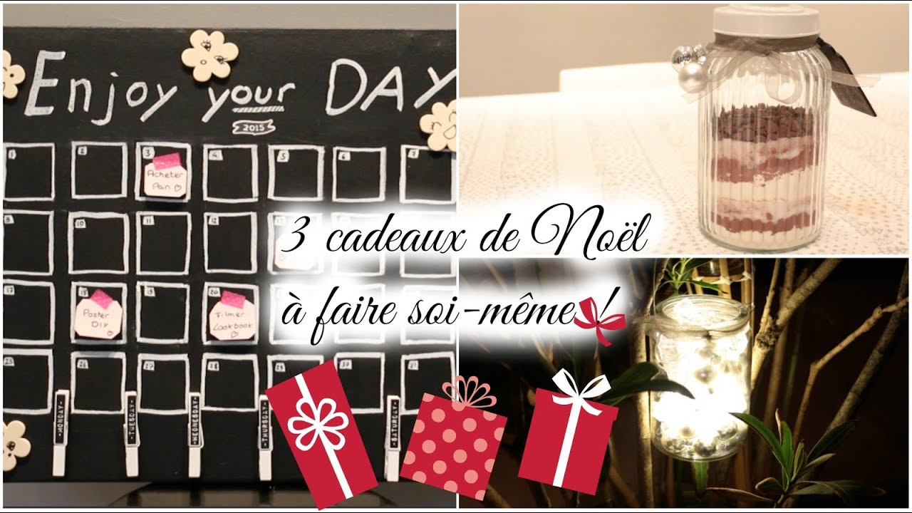 diy n 4 3 cadeaux de no l faire soi m me youtube. Black Bedroom Furniture Sets. Home Design Ideas