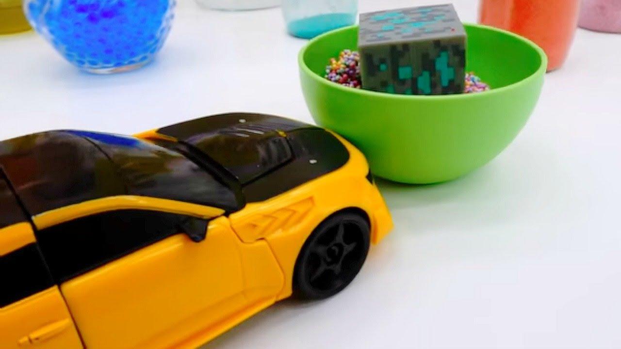 Роботы Трансформеры. Бамблби прячет Энергон! Игры для детей.