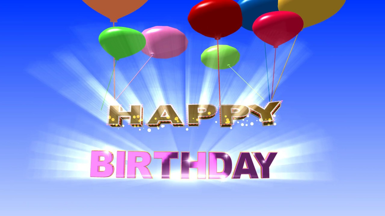 Happy Birthday! Background Video Animation Hd