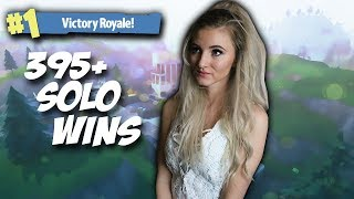 Fortnite Battle Royale - HITTING 400 SOLO WINS! SOLO GRIND. 395+ WINS. 5000+ KILLS. MAX TIER PLAYER.