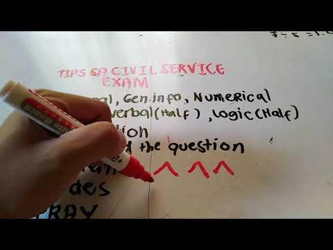 TIPS SA CIVIL SERVICE EXAMINATION