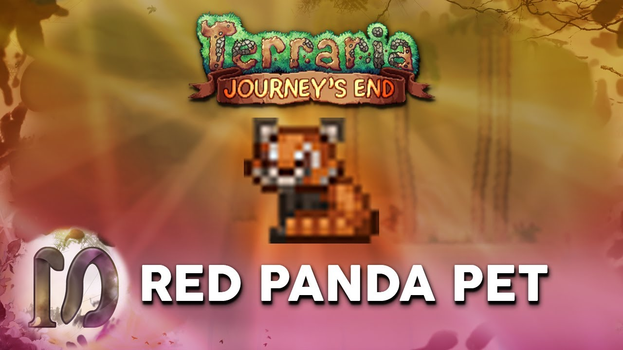 Terraria 1 4 Journey S End Red Panda Pet Bamboo Leaf The Cutest Best Pet In Terraria Youtube