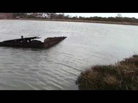 The old sunken barge.