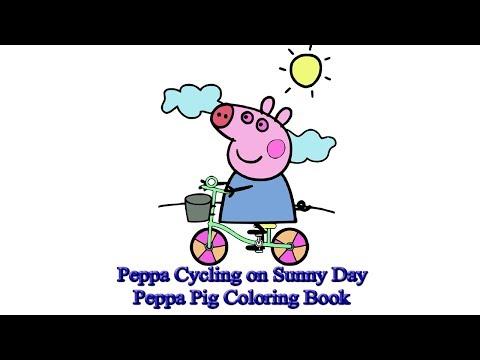 Peppa Cycling on Sunny Day   Peppa Pig Coloring Book